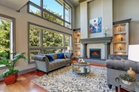 601 Examples of Living Rooms with Area Rugs (Photos)