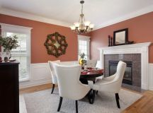 4-person dining room table in formal dining room.