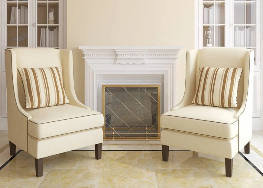 accent living room chairs with arms chiavari wedding pictures 10 attractive under 100 2019 two flanking fireplace in