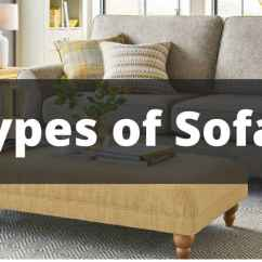 Contemporary Sofa Designs For Living Room Rv Leather 20 Types Of Sofas Couches Explained With Pictures