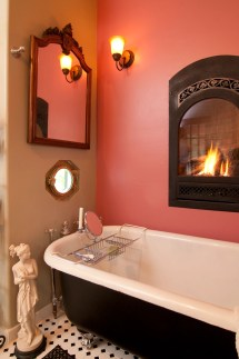 Master Bathrooms With Fireplaces