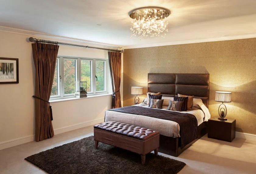 25 Master Bedrooms with Flush  SemiFlush Mount Ceiling Lights Photos  Home Stratosphere