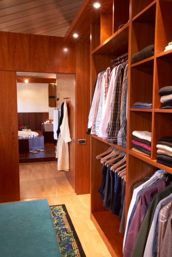 Open Bathroom Closet Storage Ideas