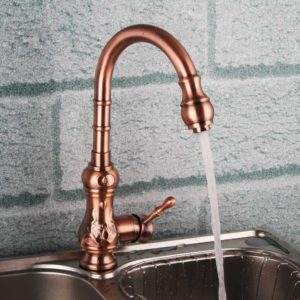 copper kitchen faucet image