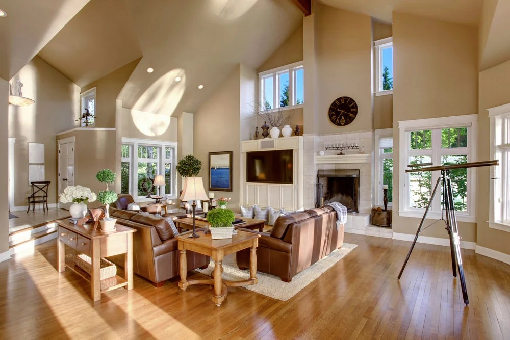 living room decor with hardwood floors small scale furniture for 41 rooms pictures a brightly lit neutral themed contemporary makes use of warm but light colored