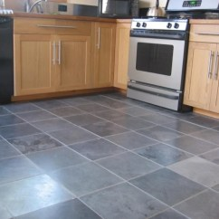 Gray Tile Kitchen Floor Coastal Table And Chairs 22 Flooring Options Ideas For 2019 Pros Cons Blue Color Image