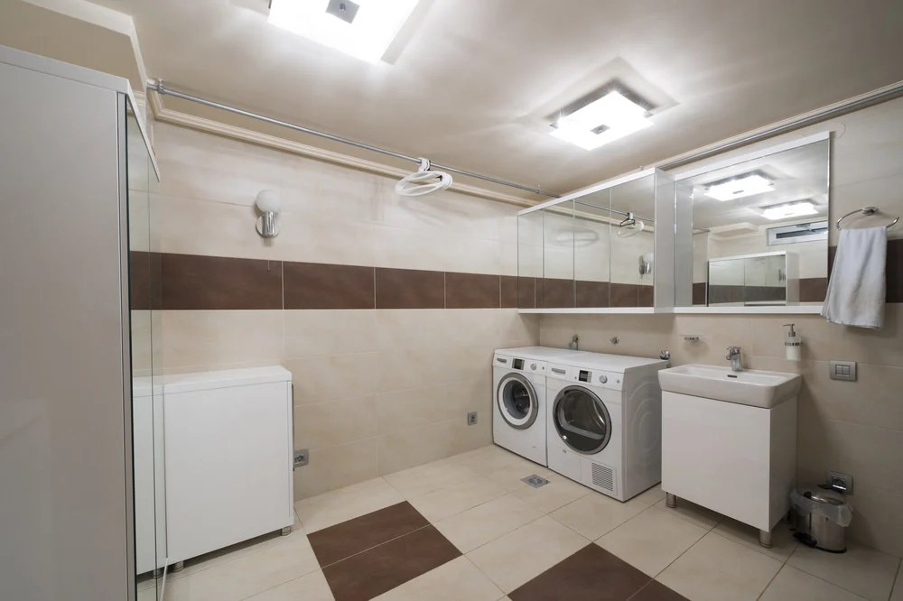 65 Laundry Rooms with SidebySide Washer and Dryer