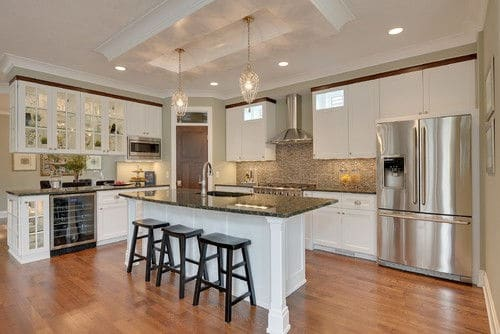 large kitchen pantry drain pipe 100 gorgeous walk in pantries for 2019 transitional l shaped open concept