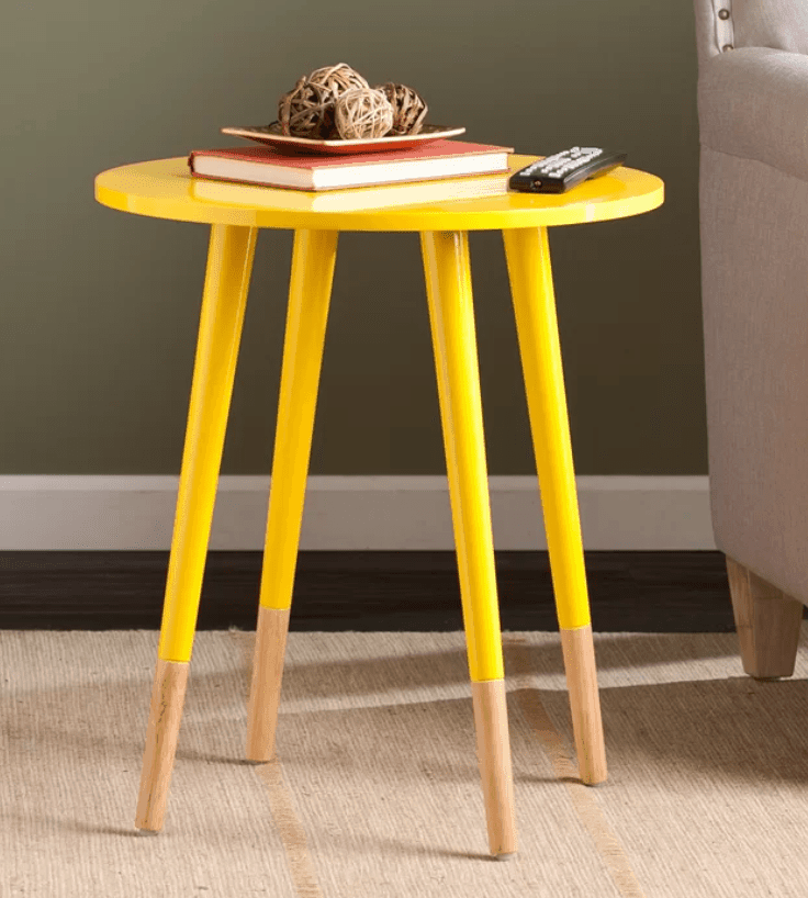 Tall Round Side Table