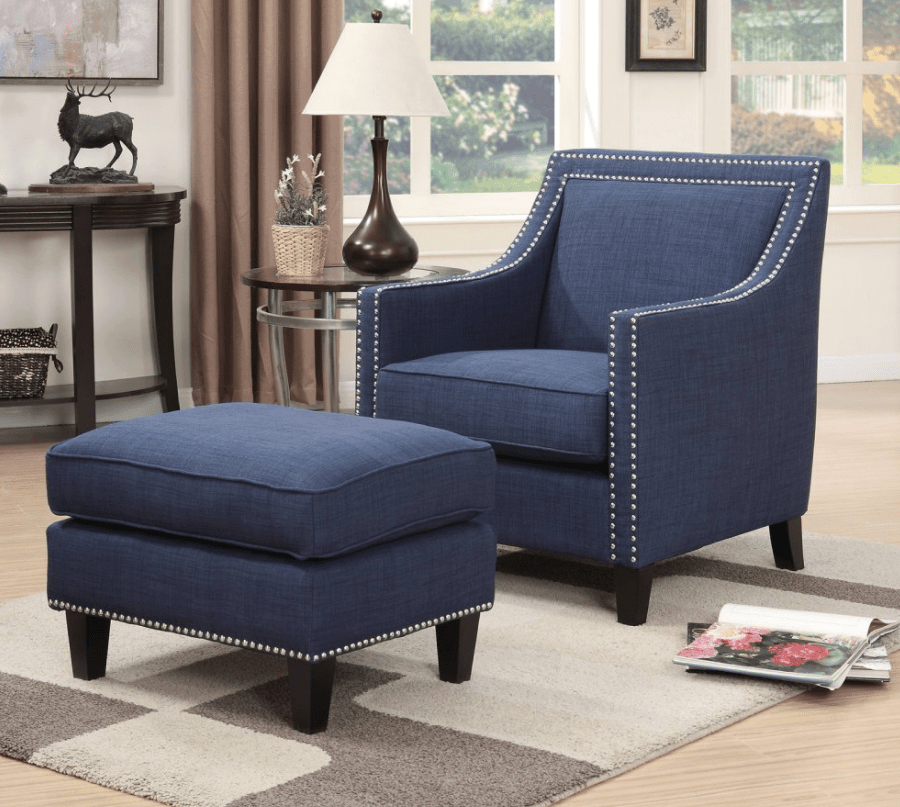 13 Excellent Accent Chair Options With An Ottoman