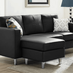 Leather Sectionals For Small Living Rooms Framed Mirrors Room 75 Modern Sectional Sofas Spaces 2019 Space Saving Black Sofa