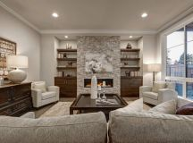 Living room with accent chairs