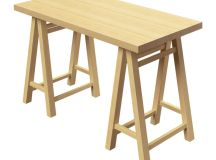 Sawhorse base dining room table