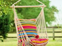 Rope cotton and polyester chair hammock.