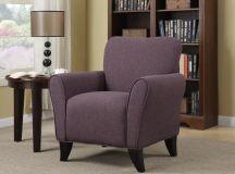 Purple colored Oakside armchair.