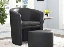 Black storage chair.