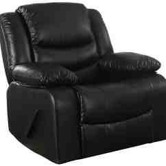 Leather Recliner Chairs High Seat 19 Large Comfy 2019 Black Reclining Rocker With Bonded Upholstery And Overstuffed Padded Arm Rests
