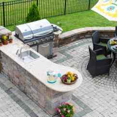 Outdoor Kitchen Cost Table Placemats How Much Does An In 2019 We Break It Down