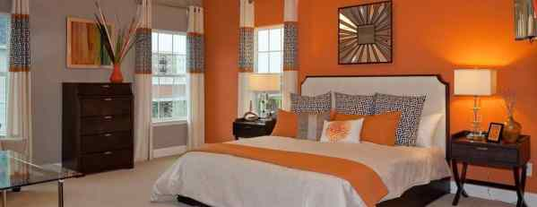 sunset orange for accent wall bedroom Colors that Go Well with Orange for Interior Design in 2019