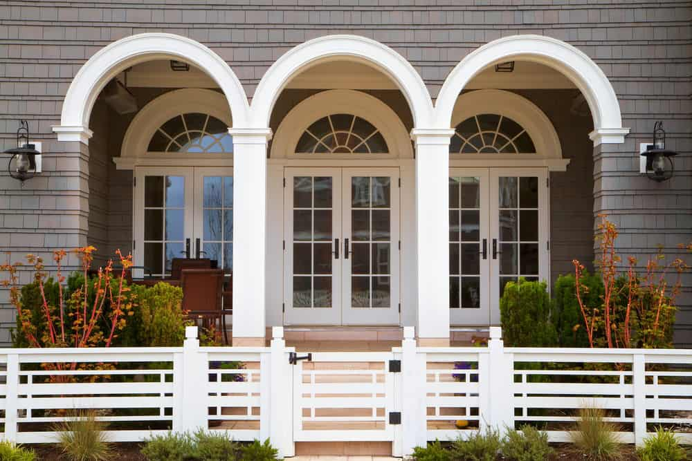 chair rail pros and cons sears outlet bean bag chairs french doors alternatives leading from home to covered porch