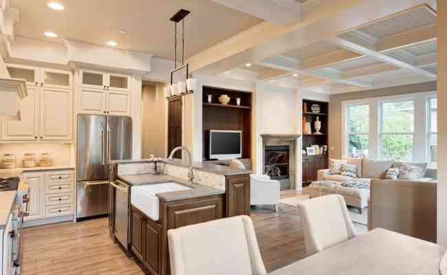 55 Open Concept Kitchen Living Room And Dining Room Floor