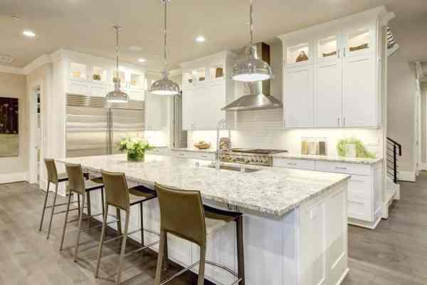 l shaped kitchen island with cabinets and design 100 L-Shaped Kitchens with an Island (2019 Photo Collection)