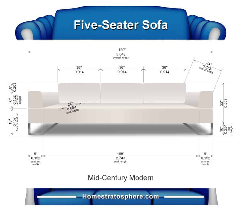 3 Seat Sofa Dimensions  Baci Living Room