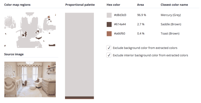 Beige combined with grey and brown.
