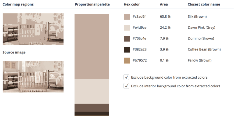 Beige combined with pink, brown and grey.