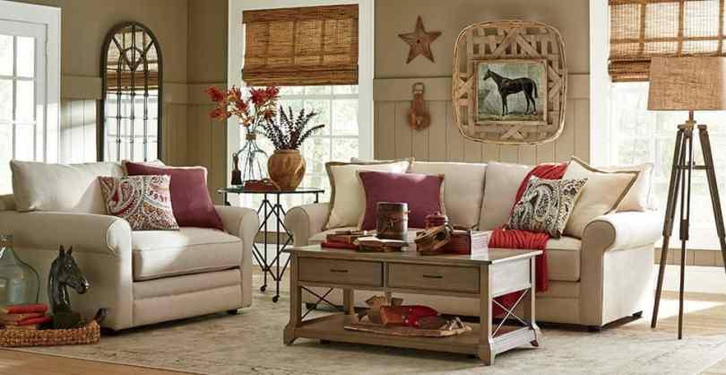 Beige Tropical living room.