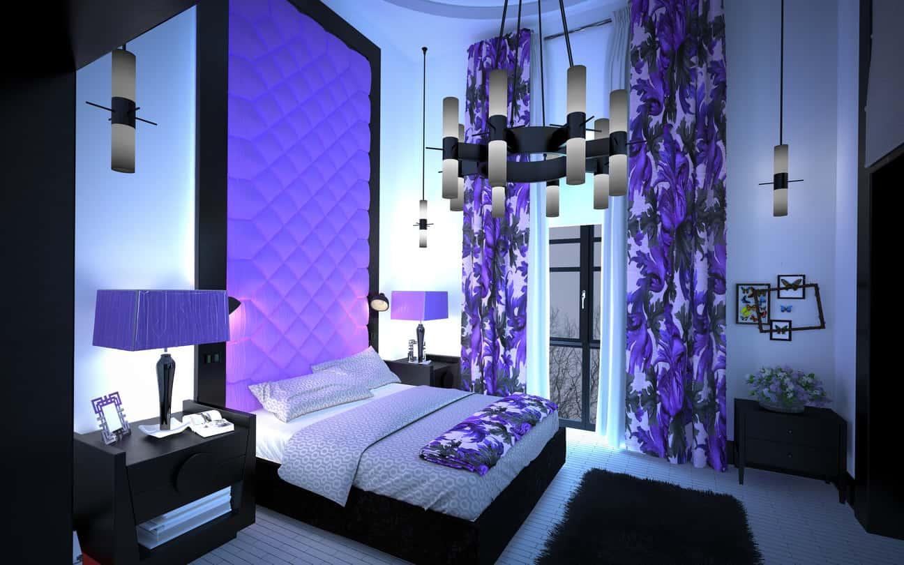 55 purple interior design