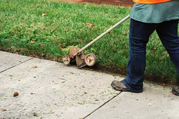 types of lawn edging