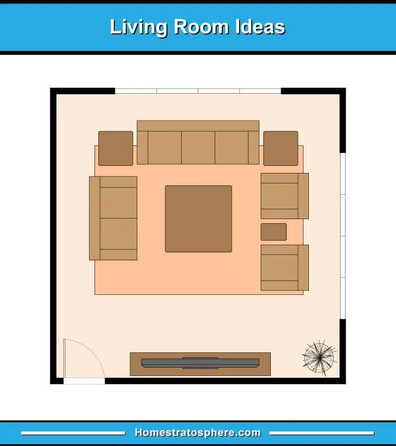 living room couch and loveseat layout decor with light gray walls 13 furniture examples floor plan illustrations sofa 2 armchairs a tv