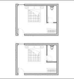 diagram of good and bad bedroom en suite door location [ 3439 x 2295 Pixel ]