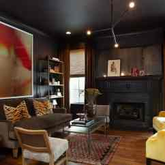 Living Room Ideas Black Furniture Coach 30 Forced Me To Rethink This Design The Has A Contemporary Style Featuring Classy Set Of And Fireplace