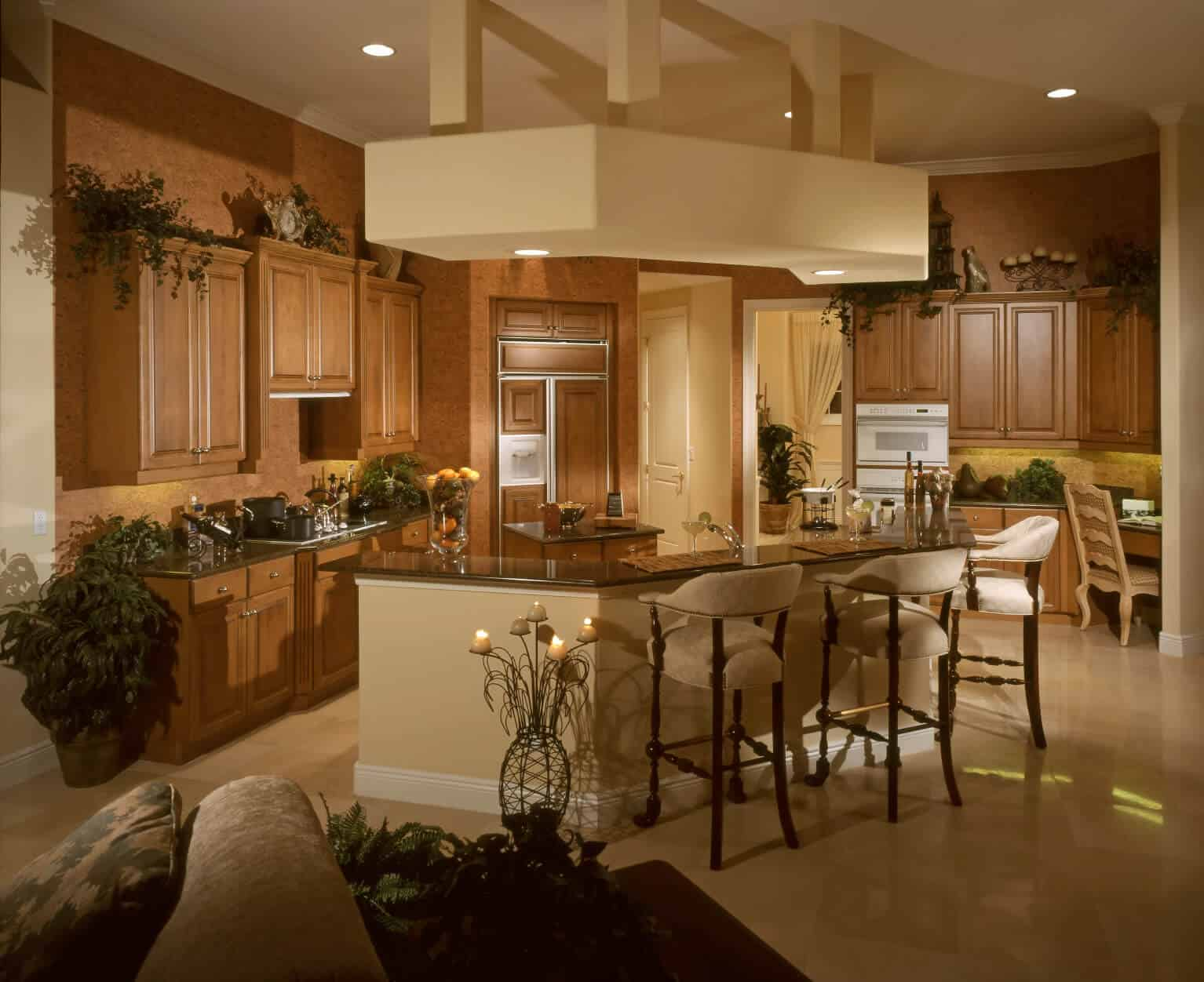 kitchen island designs with seating open in small apartments 90 different ideas and photos natural tones throughout this space c shape complete dining