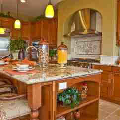 Large Kitchen Island Sink Black 90 Different Ideas And Designs Photos Warm Wood Tones Unify This Featuring With Ample Seating Area Built