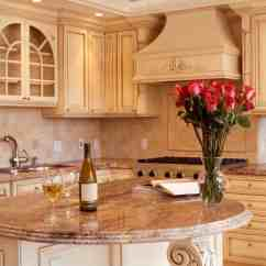 Kitchen Island With Bar Solid Wood Ready To Assemble Cabinets 90 Different Ideas And Designs Photos Lush Beige Tones Throughout This Including Filigreed Rounded Marble Countertop