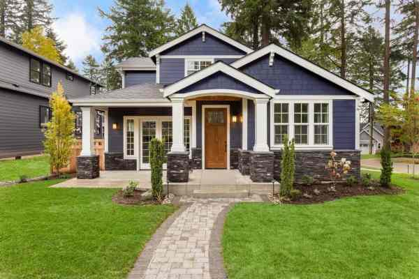 houses with white trim exterior