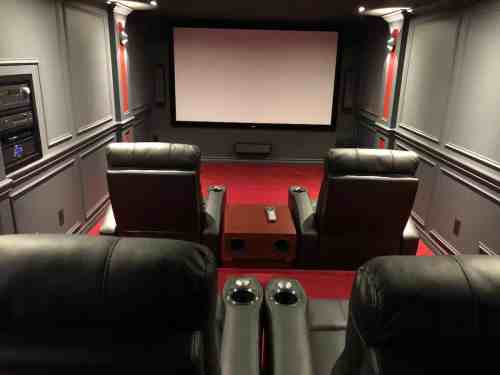 small resolution of cool small home theater built by homeowner includes 4 large theater seats with beverage storage