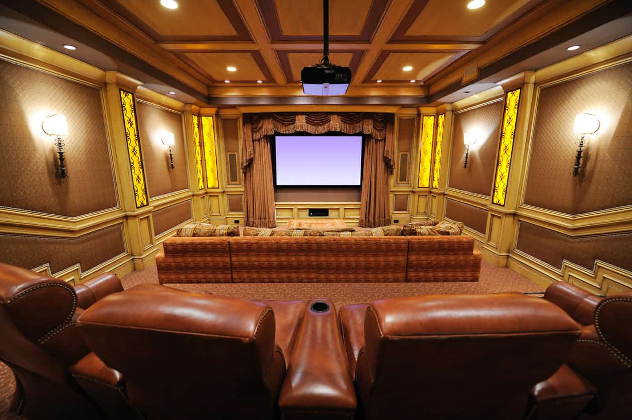 theatre room chairs folding ikea 100 home theater media ideas 2019 awesome sumptuous with multiple levels level one has a huge sofa followed by