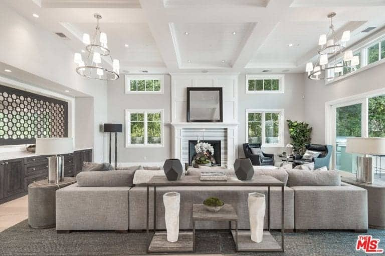 living room ideas 2018 grey sofa decor 285 traditional for 2019 another view of the home s featuring its modish couch stylish rug and lights