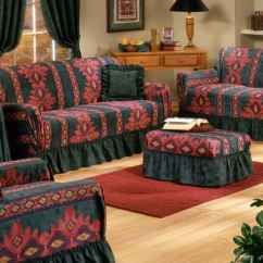 Slipcovers For Living Room Chair Revolving Vadodara 36 Different Types Of Furniture Covered With Black And Red Printed