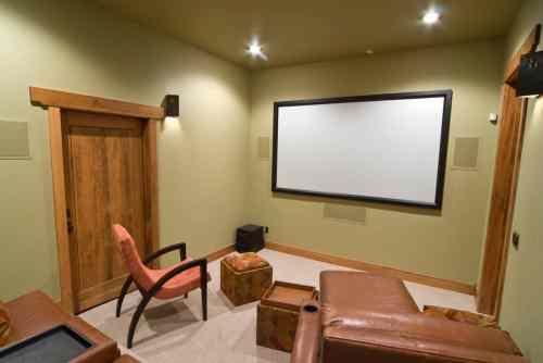 small resolution of perfect example of a bedroom converted to a home theater or a small space in the