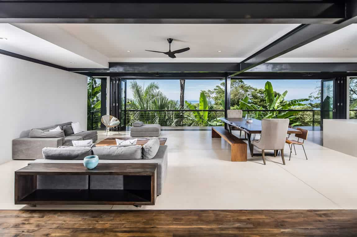 modern design living room 2018 wall colors with dark furniture 64 stylish ideas photos open concept and dining enjoying incredible views of tropical vegetation the