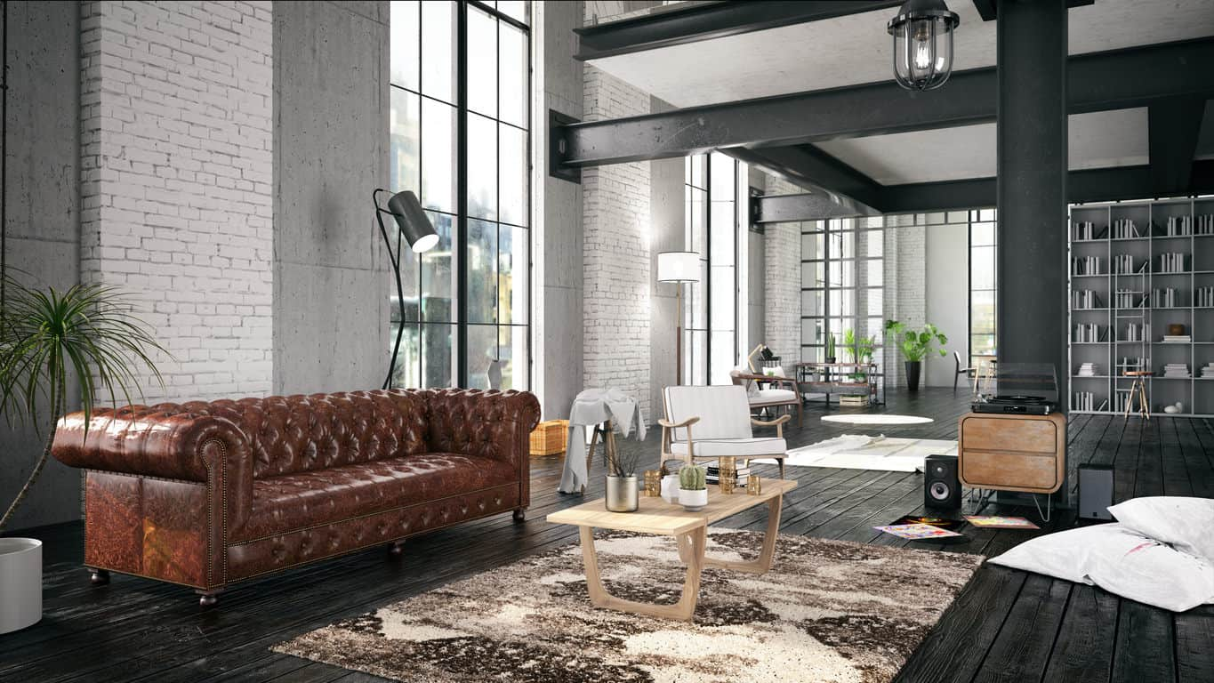 living room designs with brown sofas curtain design for small 45 cool gray ideas photos needless to say the shiny sofa steels spotlight as a remarkable choice adding pop of color an otherwise subdued