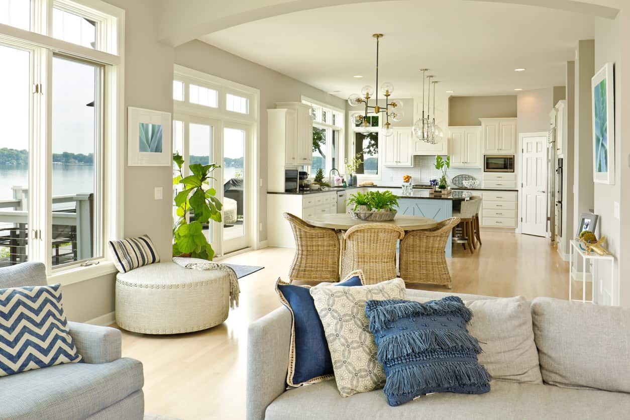 42 Open Concept Kitchen Living Room and Dining Room Floor