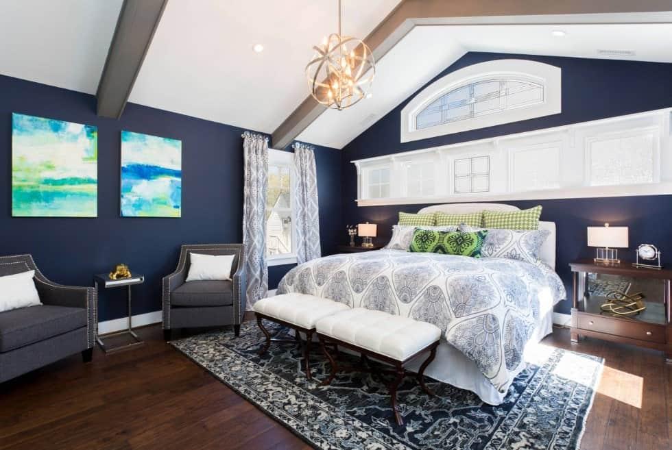 50 Blue Primary Bedroom Ideas Photos