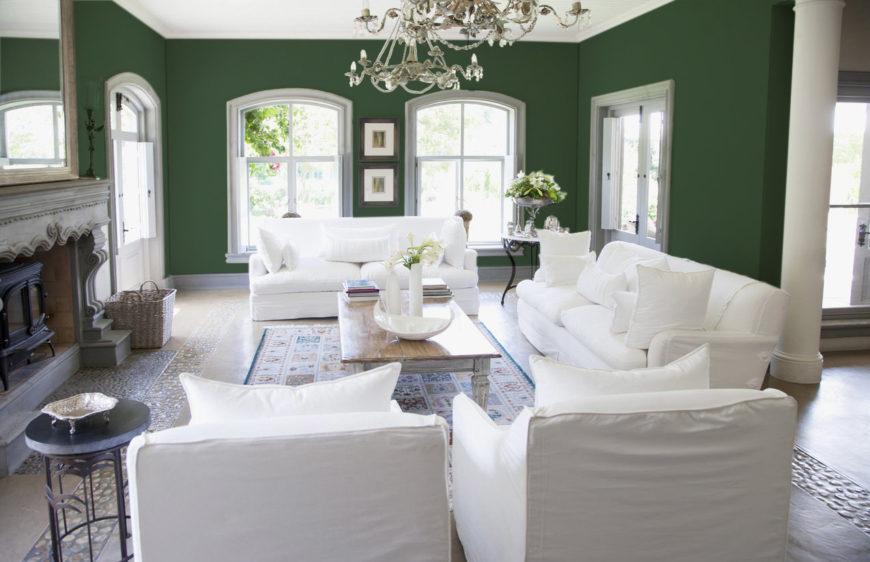 40 Green Living Room Ideas Photos