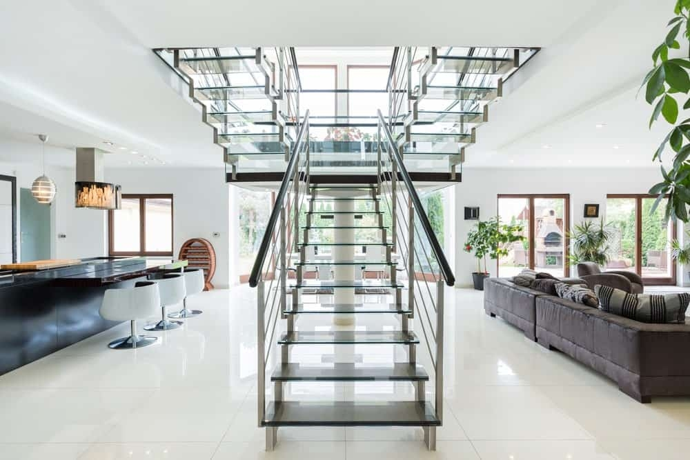40 Bifurcated Staircase Ideas Photos   Commercial Building Staircase Design   Office   Interior   Edgy   Contemporary   Drawing